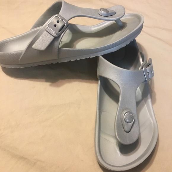 9a9f1ae7109538 Birkenstock Other - Birkenstock Gizeh EVA silver sandal